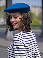 Берет LE BERET FRANCAIS арт. CLASSIQUE (ярко-синий)